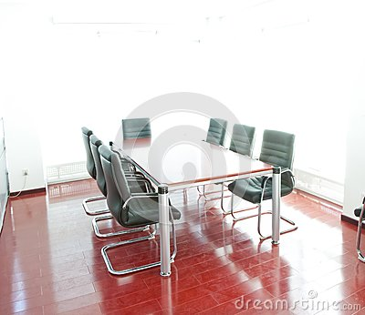 Conference table and comfortable chairs
