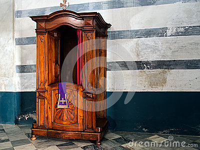Confessional in old church