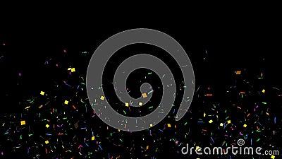 Confetes animados ilustração royalty free