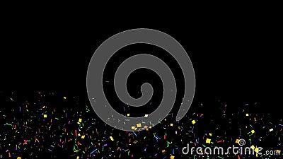Confetes animados ilustração do vetor
