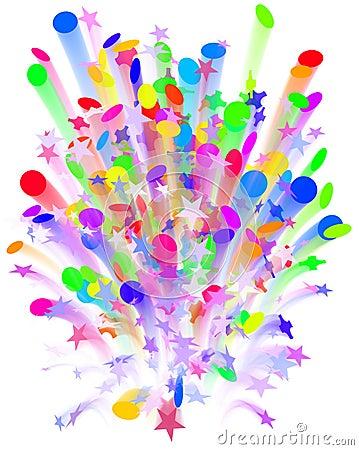 Confetti carnival explosion