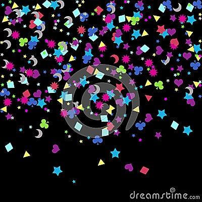 Confetti, New Years celebration - background