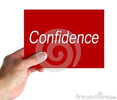 confidence card