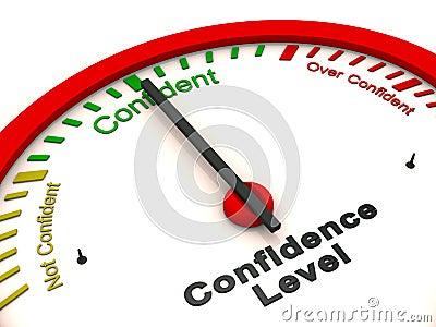 Confidence level meter