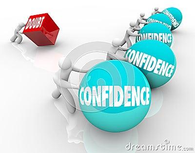 Confidence Vs Doubt Race Competition Good Positive Attitude Wins