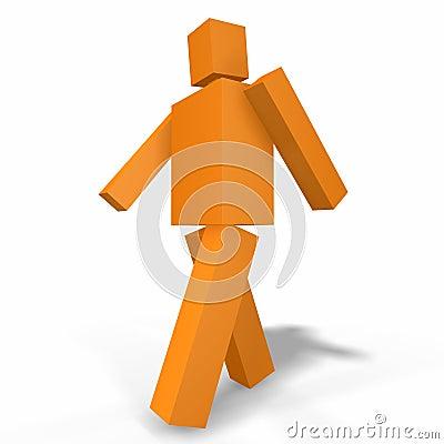 Confident 3D artificial man
