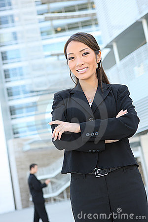 Confident Asian Business Woman
