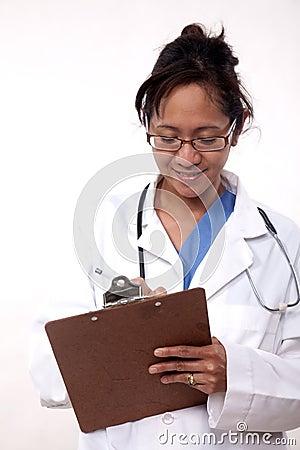 Confident asian doctor medical practitioner