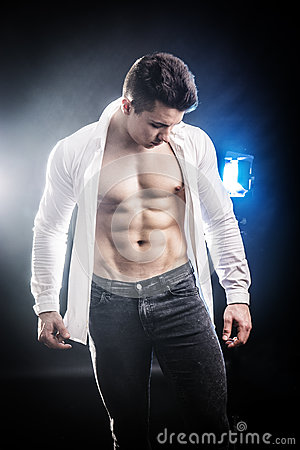 Free Confident, Attractive Young Man With Open Shirt On Stock Images - 90243494