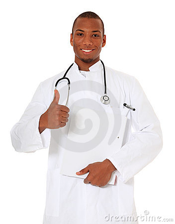 Confident black doctor
