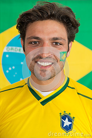 Confident Brazilian man