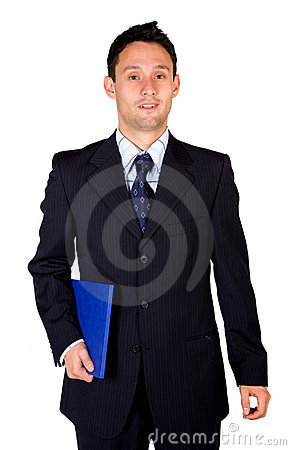 Confident business man with a folder