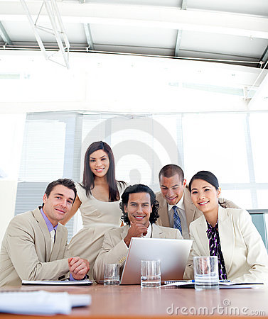 Confident business partners  in a meeting