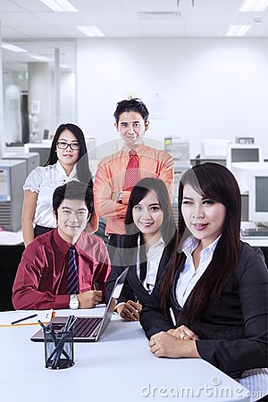 Confident business team at office