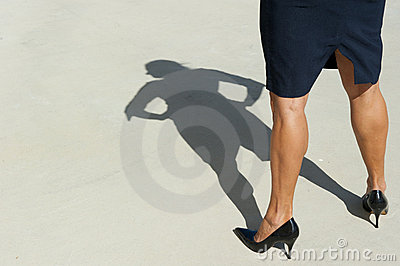 Confident Business Woman in High Heels