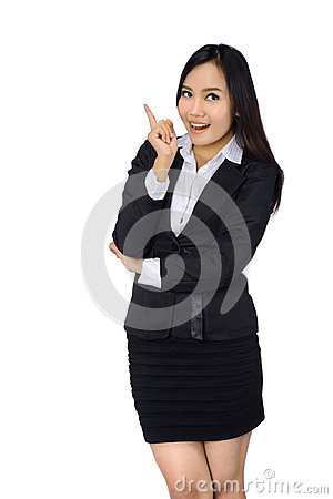 Free Confident Business Woman In Black Suit. Royalty Free Stock Image - 34761436