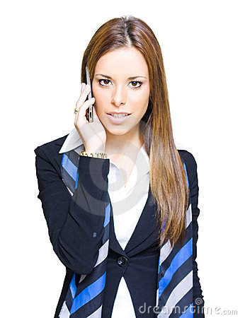 Confident Business Woman On Smart Mobile Phone