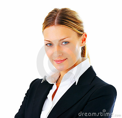 Confident business woman smiling