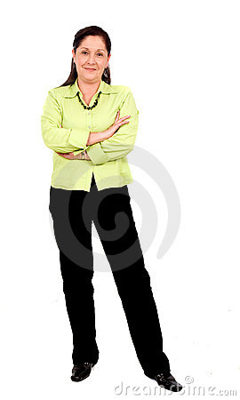 Confident business woman stand