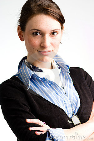 Confident Business Woman Or Teen Stock Photo - Image: 6769940