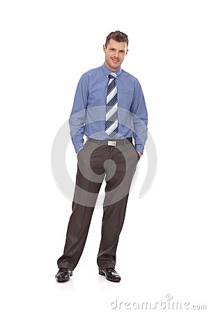 Confident businessman full-length