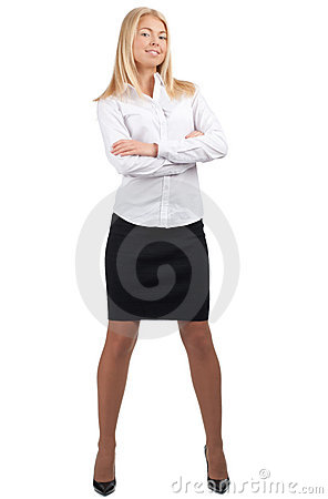 Confident  businesswoman with crossed arms