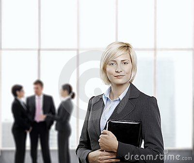 Confident Businesswoman In Office Lobby Royalty Free Stock Photography - Image: 18040077