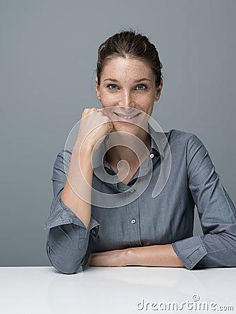 Free Confident Businesswoman Posing Stock Photos - 103242083