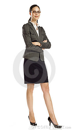 Free Confident Businesswoman Standing Royalty Free Stock Photography - 16807137