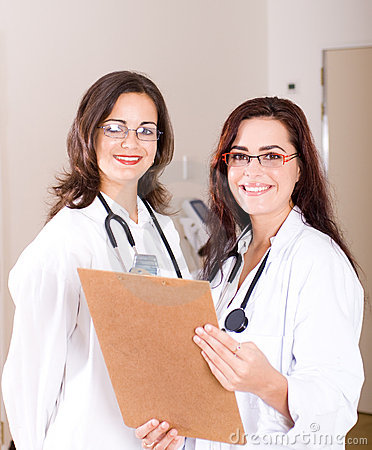 Confident female doctors
