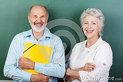 Confident happy senior couple