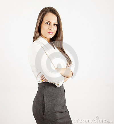 Confident looking business woman