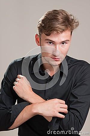 Confident male model