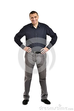 Free Confident Man Posing Royalty Free Stock Image - 50854976