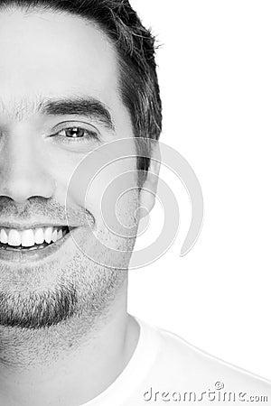 Confident Man Smiling, Looking At Camera