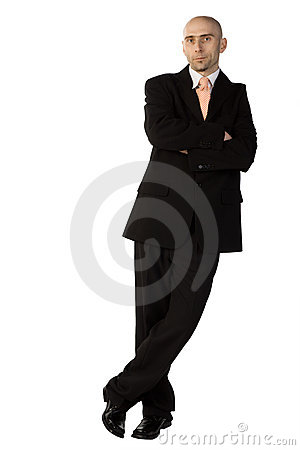 Confident man in suit