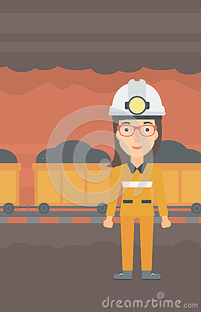 Free Confident Miner In Hardhat. Royalty Free Stock Photo - 98480715