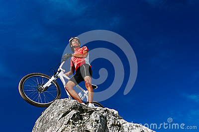 Confident mountain bike