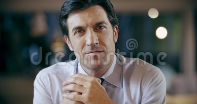 Confident professional man smiling portrait.Corporate business team work office meeting.Caucasian businessman and. Businesswoman people group talking together stock video footage