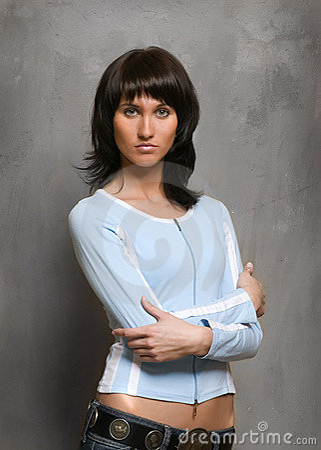 Confident beautiful woman