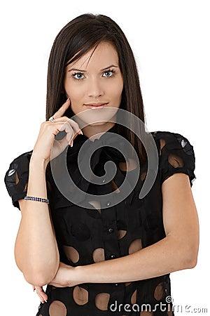Confident sexy smart woman