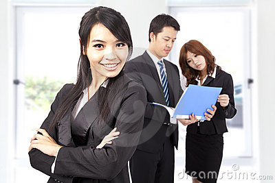 Confident and smiling Business woman