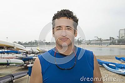 Confident Sportsman In Marina