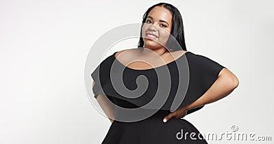 Size black models plus Plus Size