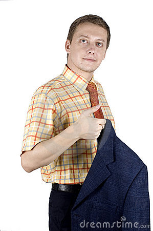 Confident, young businessman