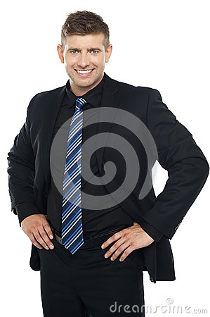 Free Confident Young Businessman Posing Casually Royalty Free Stock Photography - 26683557