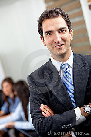 Confident young executive