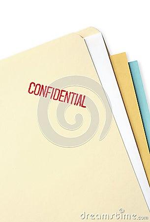 Free Confidential File Folder Stock Image - 4228461