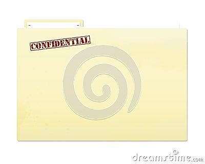 Confidential Folder File
