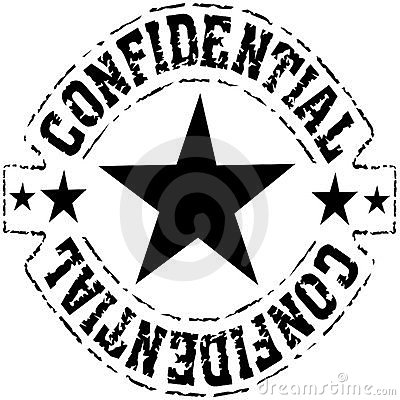 Confidential - grungy black ink stamp